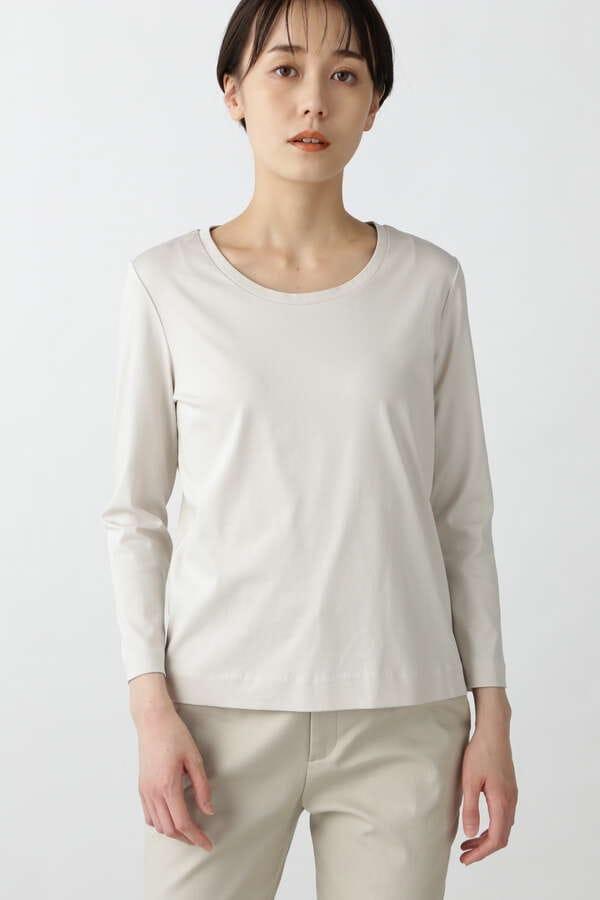 オーガニックコットンスムース長袖Tシャツ