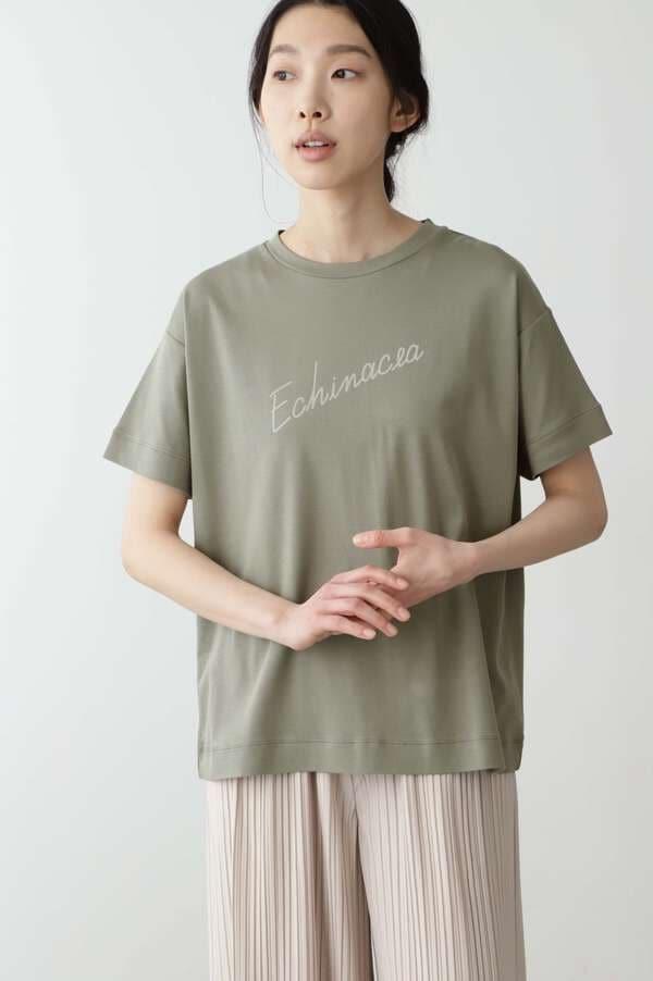 「FOOD TEXTILE」スムース ロゴTシャツ