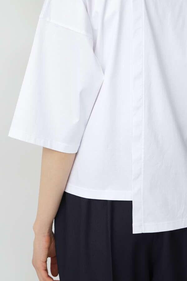 コットンスムースアシンメトリーTシャツ