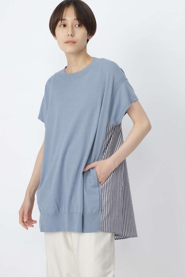 布帛コンビプルオーバー
