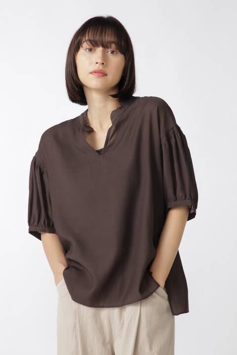キュプラ綿ドライローンブラウス