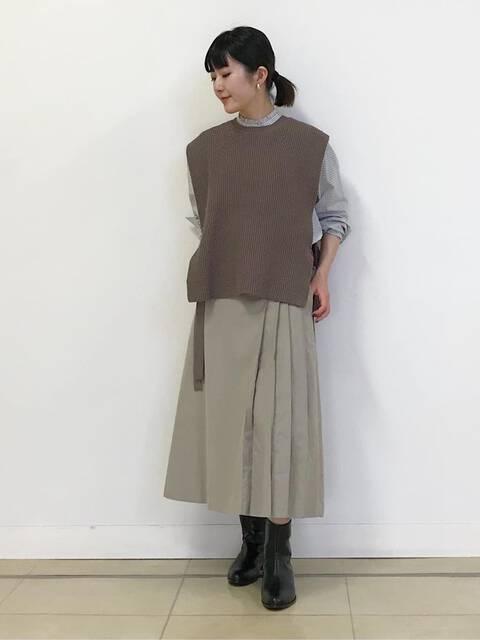 ライトモールスキンスカート