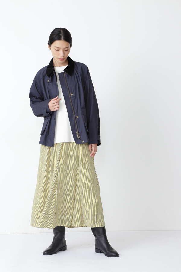 【先行予約 10月中旬-下旬 入荷予定】≪arrive 5e≫ストライププリントスカート