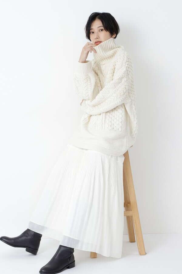【先行予約 11月上旬-中旬 入荷予定】ティアード風プリーツスカート