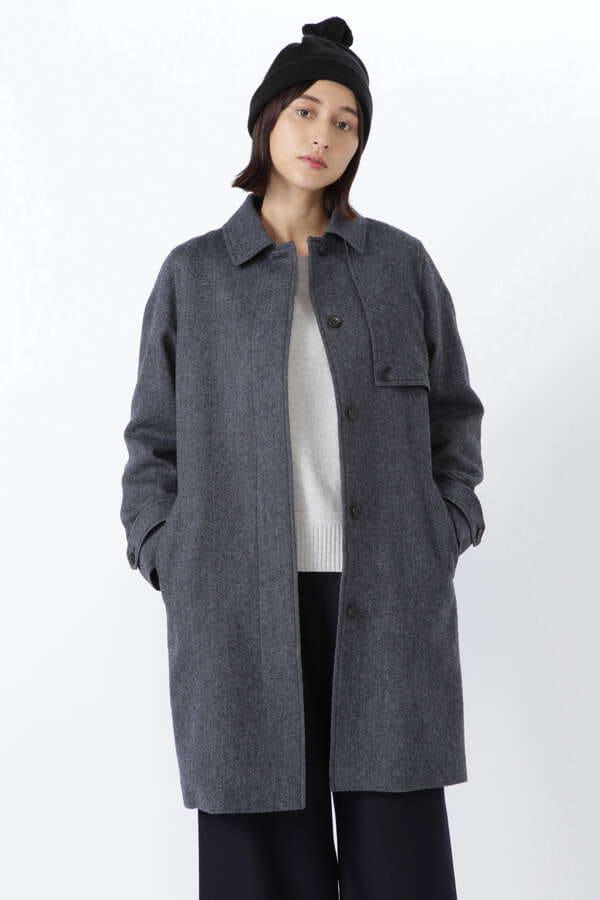 ≪Japan Couture≫シェットランドウールステンカラーコート