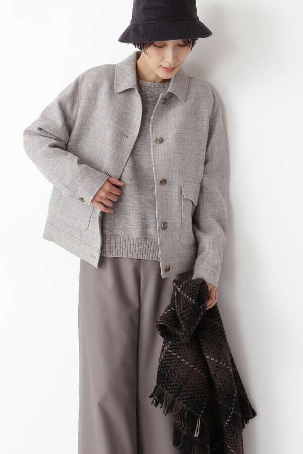 【先行予約 10月中旬-下旬 入荷予定】≪Japan couture≫シェットランドウールブルゾン