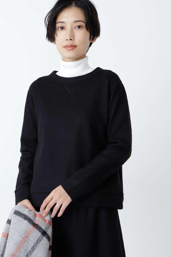 【先行予約 11月中旬-下旬 入荷予定】≪Japan couture≫ 圧縮天竺ウールプルオーバー