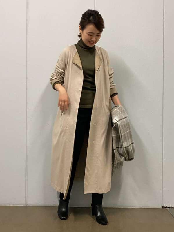 オ-ガニック丸胴タートルカットソー
