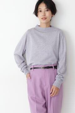 ベーシックニットⅡ配色プルオーバー