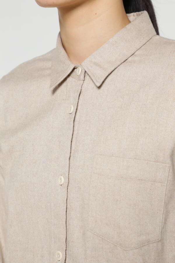 WOMEN'S BRUSHED COTTON FLANNEL SHIRT