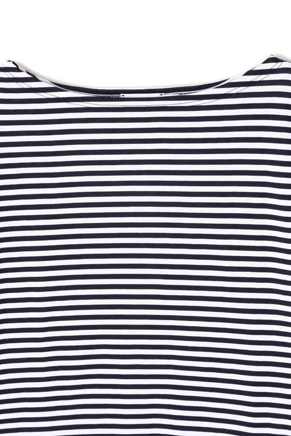 WOMEN'S Q82 BOAT NECK STRIPE