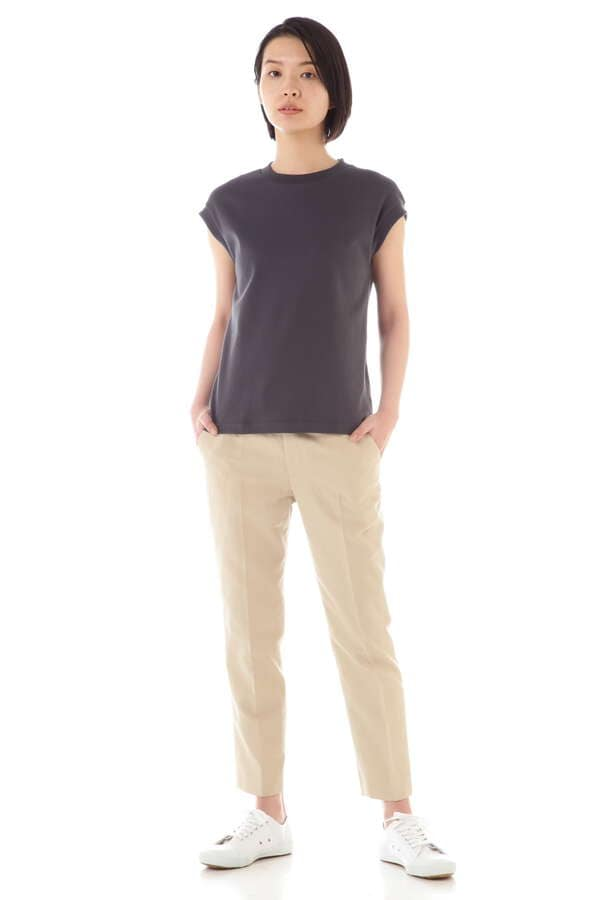 WOMEN'S SUVIN GIZA COTTON FRENCH-SLEEVE