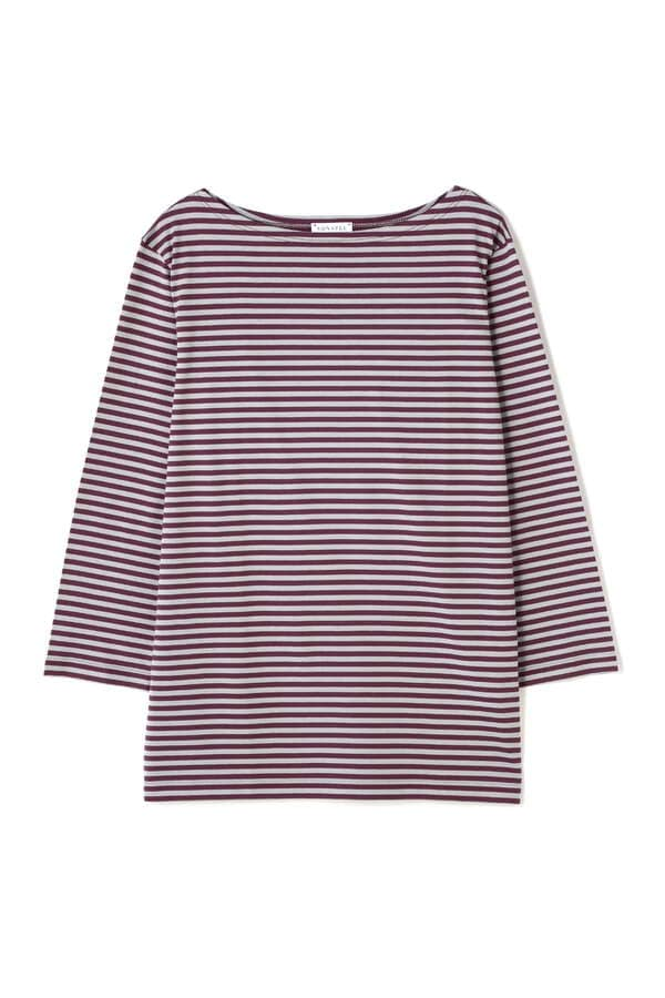 WOMEN'S Q82 BOAT NECK STRIPE