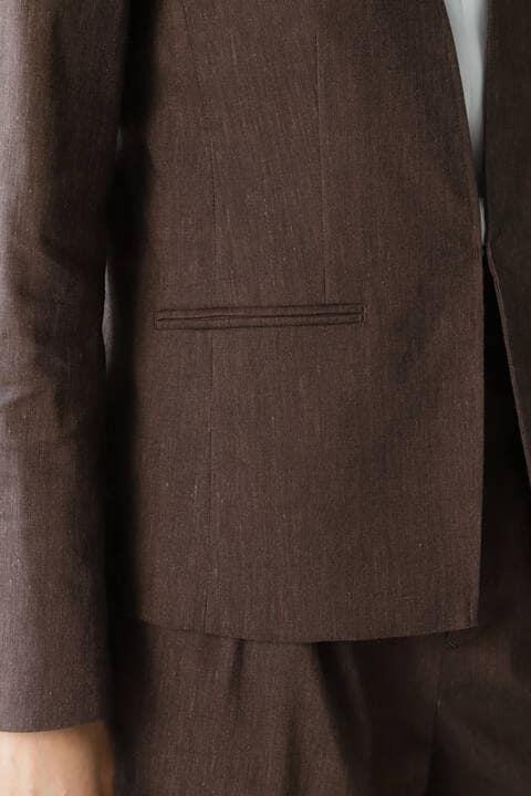 麻ストレッチセットアップジャケット