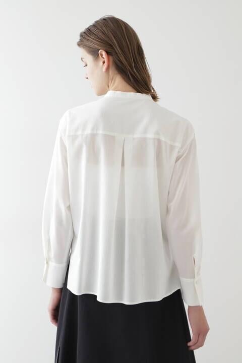 ボイルピンタックシャツ
