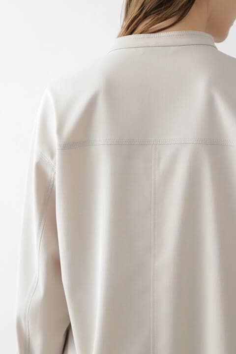 【先行予約 3月中旬-下旬入荷予定】CU/PLメランジセットアップシャツ