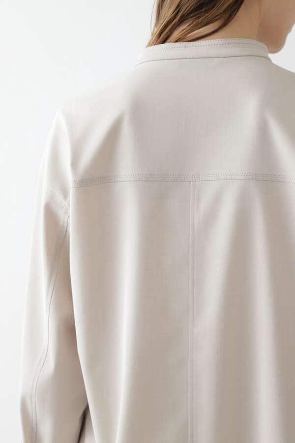 CU/PLメランジセットアップシャツ