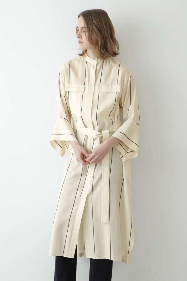 ストライプロングシャツ羽織り