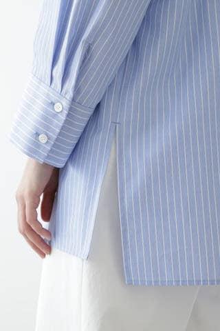ストライプオーバーサイズシャツ