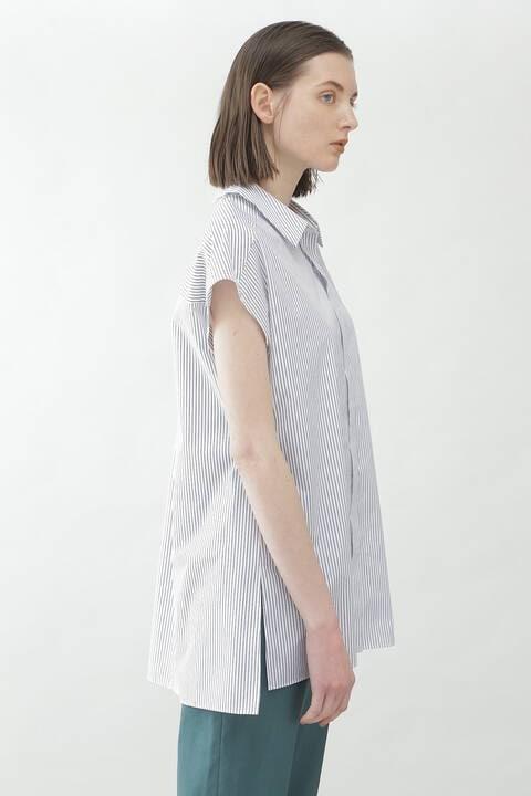 ストライプオーバーシャツ