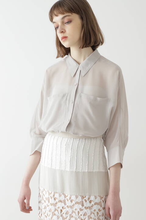 【先行予約 5月中旬-5月下旬入荷予定】シアーフォルムシャツ