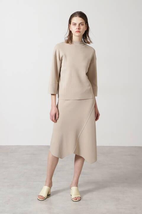 ステッチニットセットアップスカート
