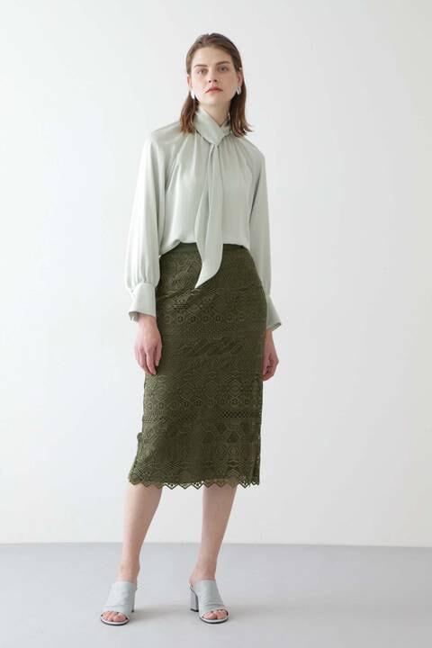 【先行予約 2月上旬-中旬入荷予定】ボーダーレーススカート
