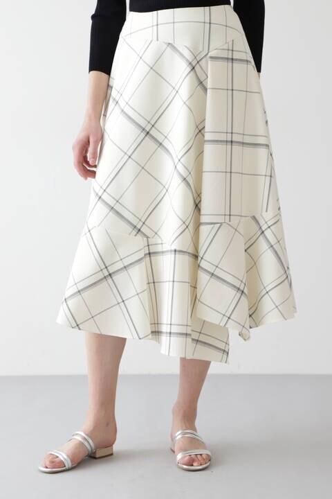 ウィンドウペンフレアスカート