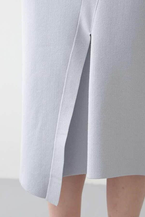 シルク混スムースニットセットアップスカート