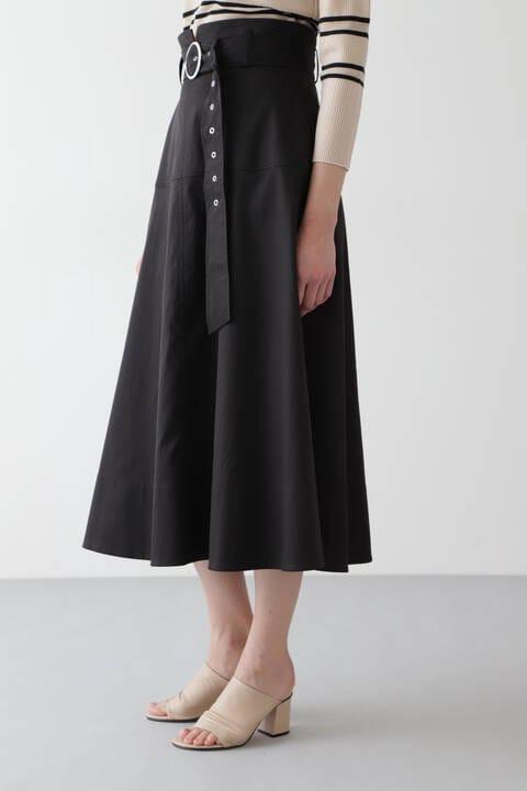 ベルト付きチノフレアスカート