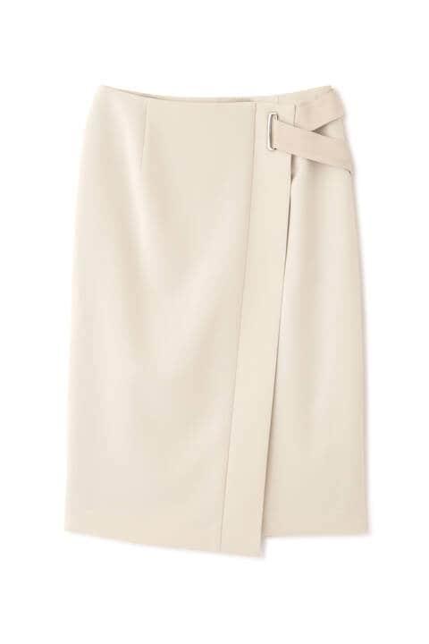 ベルト付きラップタイトスカート