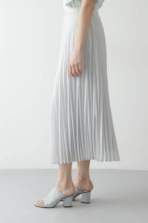 マキシ丈プリーツスカート