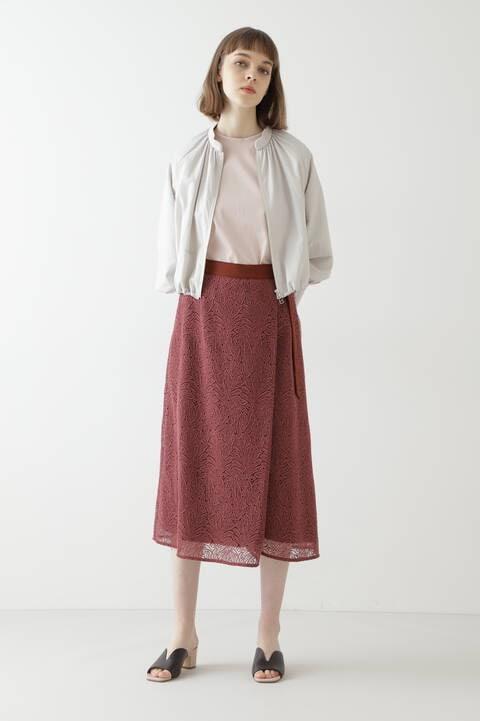 【先行予約 5月中旬-5月下旬入荷予定】リーフレーススカート
