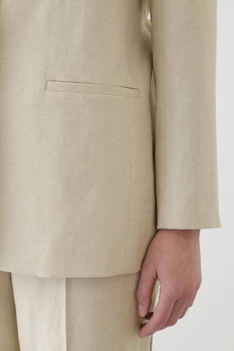 ウール麻セットアップジャケット