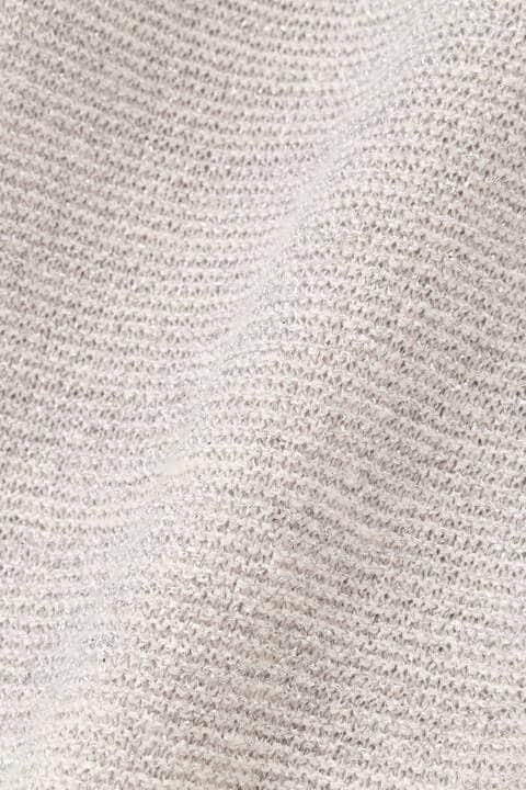麻ラメミックスガーター 半袖プルオーバー
