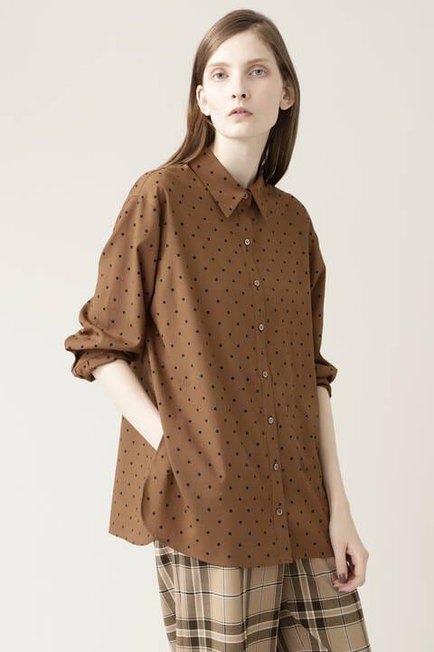 ドットプリントシャツ