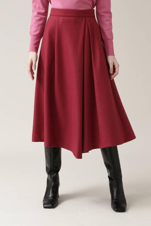 【先行予約 10月下旬-11月上旬入荷予定】ウールスムースフレアスカート