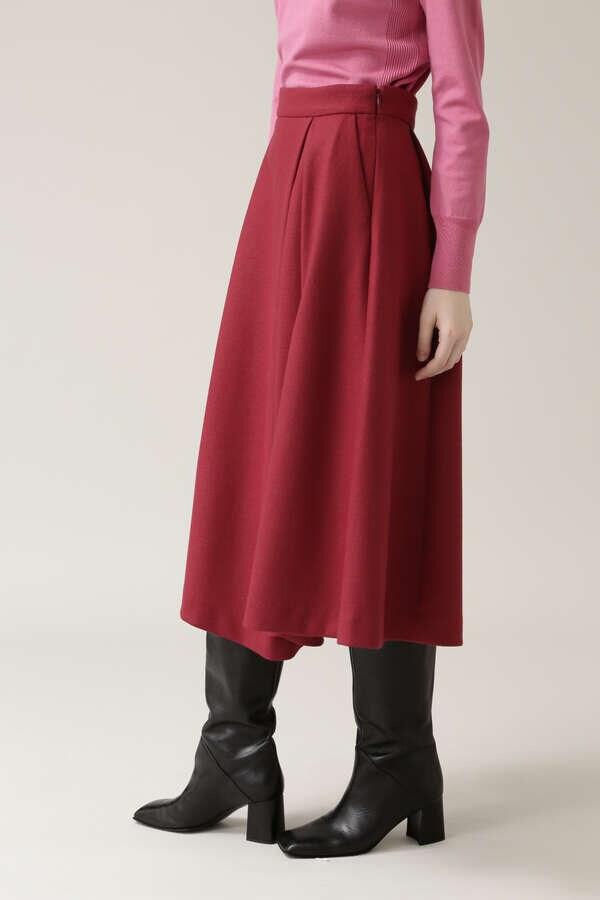 ウールスムースフレアスカート