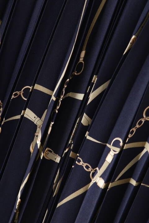 【先行予約 10月下旬-11月上旬入荷予定】チェーンベルトプリントスカート