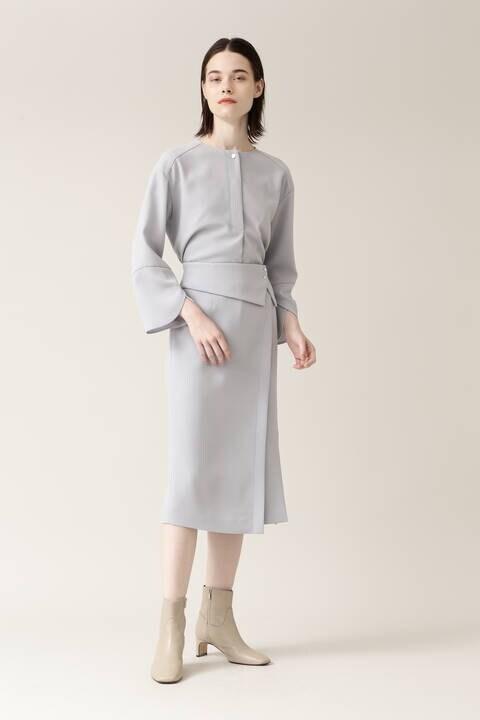【先行予約 11月上旬-中旬入荷予定】トリアセバックサテンセットアップスカート