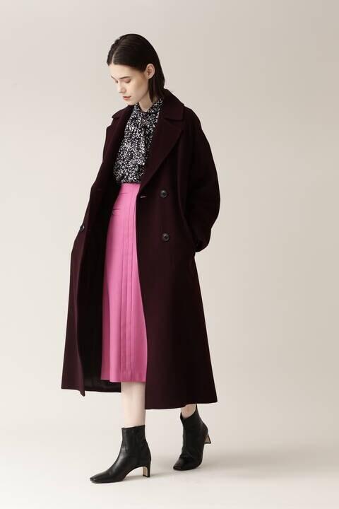 【先行予約 11月上旬-中旬入荷予定】PE/Wストレッチサキソニースカート