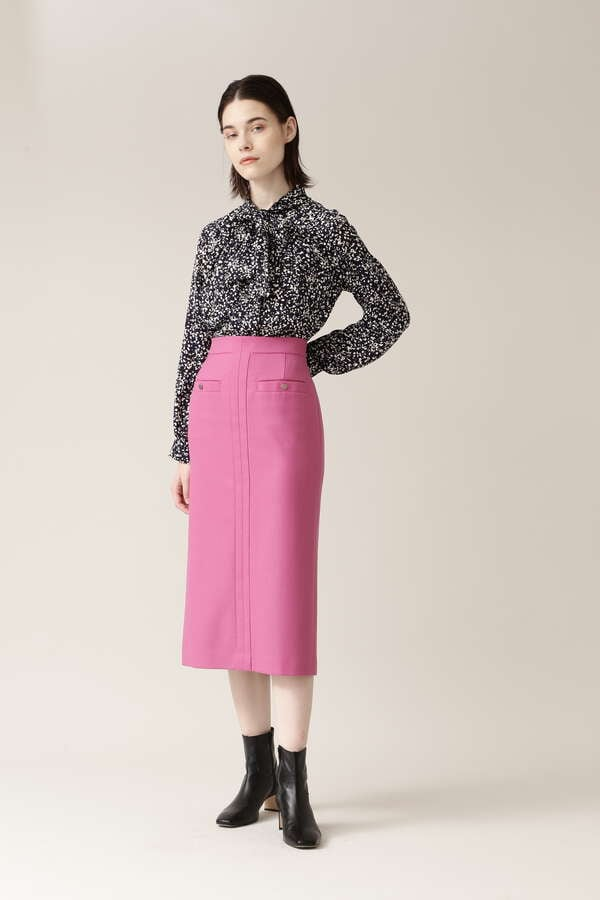 PE/Wストレッチサキソニースカート
