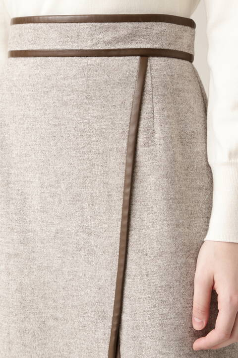 【先行予約 11月上旬-中旬入荷予定】ホームスパンツイードスカート