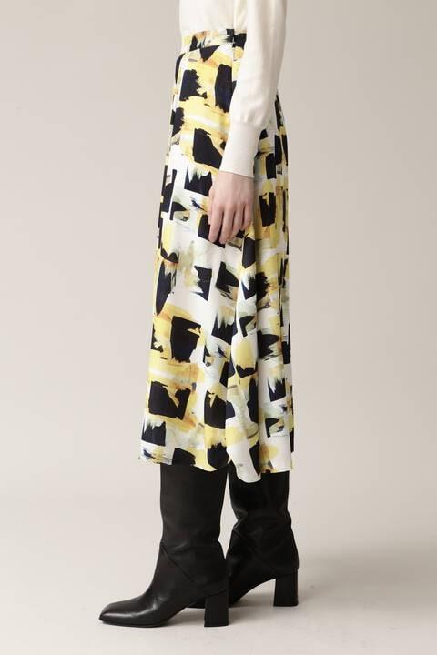 【先行予約 11月上旬-中旬入荷予定】アートプリントスカート