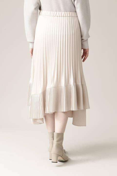 【先行予約 11月上旬-中旬入荷予定】アシンメトリープリーツスカート