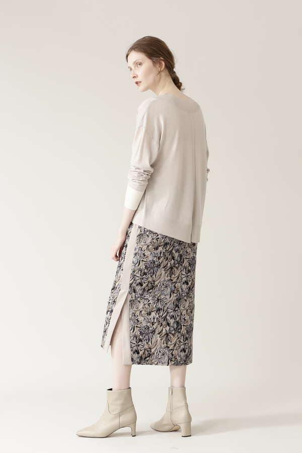 【先行予約 12月上旬-中旬入荷予定】ジャガードタイトスカート