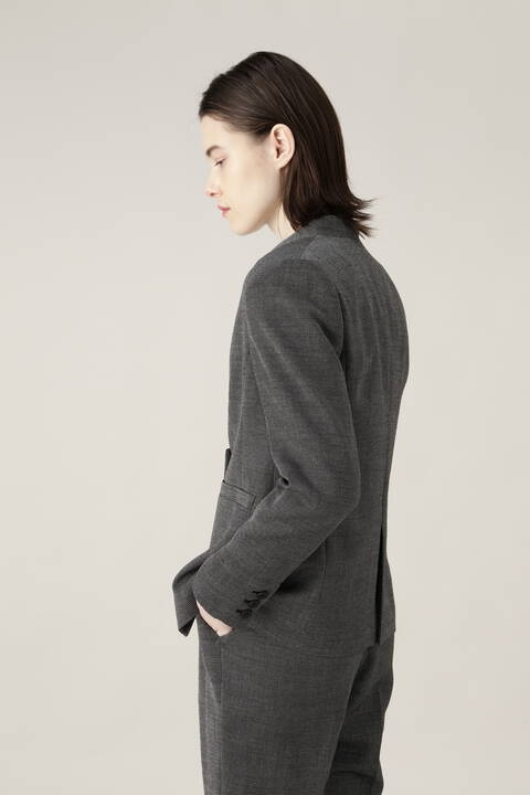 バーズアイセットアップジャケット
