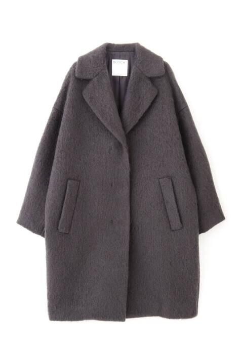 【先行予約 11月上旬-中旬入荷予定】モヘアループシャギーコート