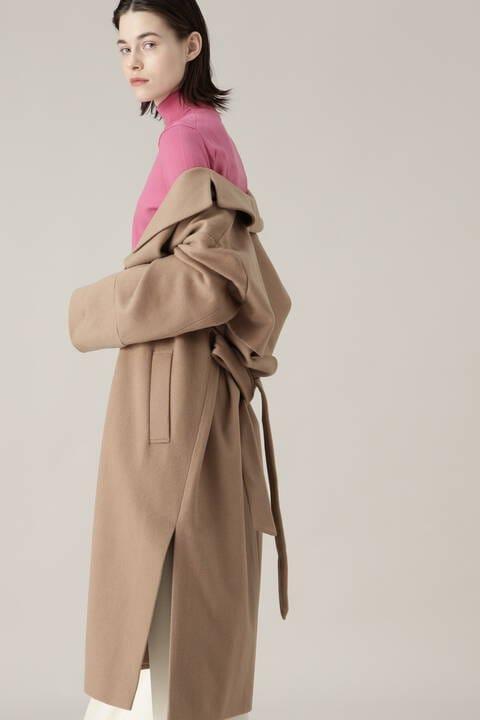 カシミアガウンコート
