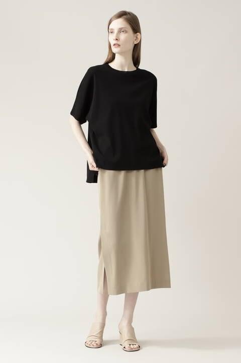ニットリブTシャツ